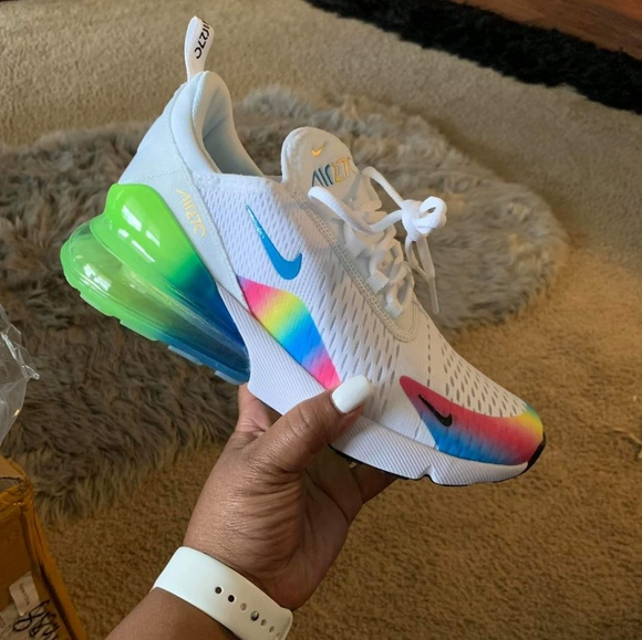 nike air max 270 white rainbow